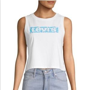 NWT Levi's Graphic Logo Cropped Tank